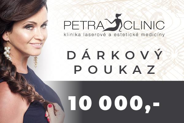 Dárkový certifikát Petra Clinic v hodnotě 10 000 Kč