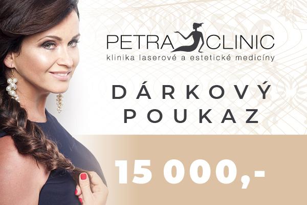 Dárkový certifikát Petra Clinic v hodnotě 15 000 Kč