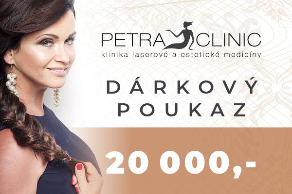 Dárkový poukaz Petra Clinic v hodnotě 20 000 Kč