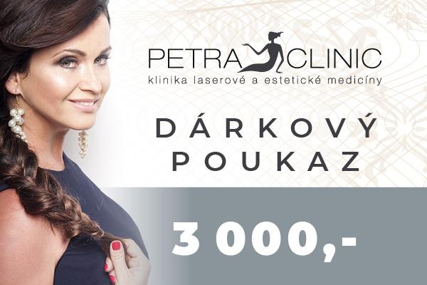 Dárkový poukaz Petra Clinic v hodnotě 3 000 Kč