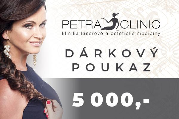Dárkový certifikát Petra Clinic v hodnotě 5 000 Kč