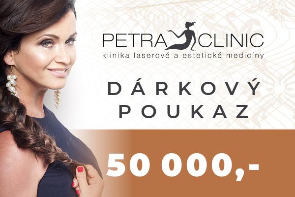 Dárkový poukaz Petra Clinic v hodnotě 50 000 Kč